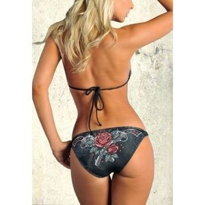 Sinful by Affliction Wish Chain Guns Rose Bottom
